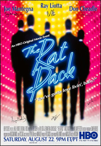 """The Rat Pack (HBO Films, 1998). Autographed One Sheet (27"""" X 39.5"""") SS. Drama"""