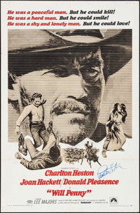 """Will Penny (Paramount, 1968). Autographed One Sheet (27"""" X 41""""). Western"""