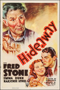 """Movie Posters:Comedy, Hideaway (RKO, 1937). One Sheet (27"""" X 41""""). Comedy.. ..."""