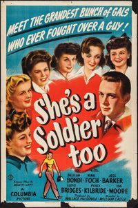 "She's a Soldier Too (Columbia, 1944). One Sheet (27"" X 41""). Drama"