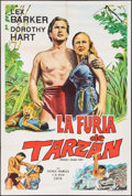 "Movie Posters:Adventure, Tarzan's Savage Fury (RKO, 1952). Argentinean Poster (29"" X 43"").Adventure.. ..."