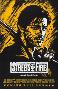 """Streets of Fire (Universal, 1984). One Sheets (5) (27"""" X 41"""", 27"""" X 40"""") SS Purple, Red, Yellow, and..."""