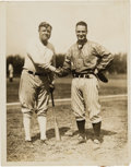Baseball Collectibles:Photos, 1920's Babe Ruth & Lou Gehrig Original News Photograph, PSA/DNAType 1. ...