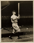 Baseball Collectibles:Photos, 1930's Lou Gehrig Original News Photograph, PSA/DNA Type 1. ...