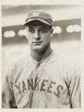 Baseball Collectibles:Photos, 1928 Lou Gehrig Original News Photograph, PSA/DNA Type 1....