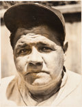 Baseball Collectibles:Photos, 1930's Babe Ruth Original News Photograph, PSA/DNA Type 1. ...