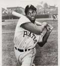 Baseball Collectibles:Photos, 1955 Roberto Clemente Rookie Year Original News Photograph, PSA/DNAType 1....