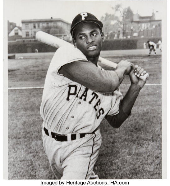 1955 Roberto Clemente Rookie Year Original News Photograph