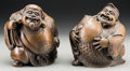 Asian:Japanese, Two Japanese Bronze Figures of Ebisu and Daikoku, Taisho Period,circa 1912-1926. 4-3/4 inches high (12.1 cm). ... (Total: 2 Items)
