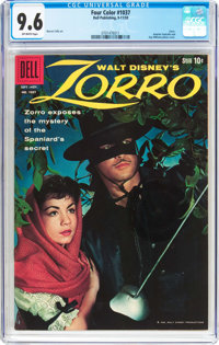 Four Color #1037 Zorro (Dell, 1959) CGC NM+ 9.6 Off-white pages