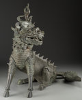 Other, A Chinese Bronze Qilin Censer, Ming Dynasty, circa 1368-1644. 23-1/2 h x 22-1/4 w x 17 d inches (59.7 x 56.5 x 4...