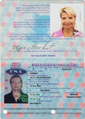 Olympic Collectibles:Autographs, 2000 Olga Korbut Signed Passport from The Olga Korbut Collection -Her First! ...