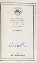 Autographs:Celebrities, Edgar Mitchell Signed Leather-Bound Collector's Edition Book:The Way of The Explorer. ...