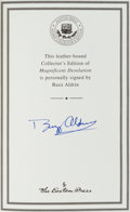 Autographs:Celebrities, Buzz Aldrin Signed Leather-Bound Collector's Edition Book: Magnificent Desolation. ...