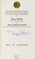 Autographs:Celebrities, Buzz Aldrin Signed Limited Edition Book (#198/1500): Men From Earth. ...