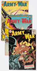 Golden Age (1938-1955):War, Our Army at War Group of 5 (DC, 1954-55) Condition: Average VG....(Total: 5 Comic Books)
