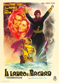 "The Thief of Bagdad (Minerva Film, 1946). First Post War Italian 4 - Fogli (55.5"" X 77.5"") Anselmo Ballester A..."