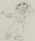 Animation Art:Production Drawing, Mother Goose Goes Hollywood Eddie Cantor Animation Drawing(Walt Disney, 1938). ...