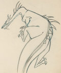 Animation Art:Production Drawing, Sleeping Beauty Dragon Animation Drawing (Walt Disney,1959).. ...