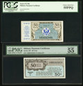 Military Payment Certificates:Series 461, Series 461 50¢ PMG About Uncirculated 55 EPQ;. Series 472 50¢ First Printing PCGS Choice About New 55PPQ.. ... (Total: 2 notes)