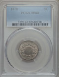 Shield Nickels: , 1870 5C MS61 PCGS. PCGS Population: (4/238). NGC Census: (8/165). Mintage 4,806,000. ...