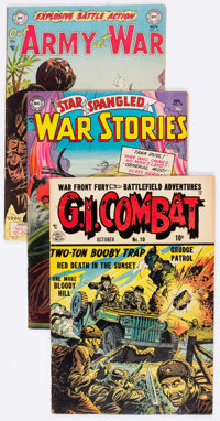 Comic Books - Assorted Golden Age War Comics Group of 7 (Various Publishers, 1950s) Condition: Average GD.... (Total: 7...