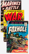 Golden Age (1938-1955):War, Comic Books - Assorted Golden Age War Comics Group of 12 (Various Publishers, 1950s) Condition: Average VG.... (Total: 12 Comic Books)