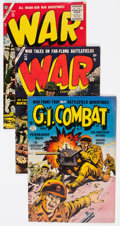 Golden Age (1938-1955):War, Comic Books - Assorted Golden Age War Comics Group of 4 (VariousPublishers, 1950s) Condition: Average FN.... (Total: 4 Comic Books)