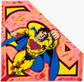 Animation Art:Poster, Superman Silkscreen on Canvas Limited Edition (1 of 100),signed by Steve Kaufman, 1995...