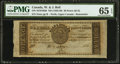 Canadian Currency: , Perth, UC- W. & J. Bell 30 Pence/Half Dollar 183_ Remainder. ...