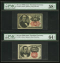 Fractional Currency:Fifth Issue, Fr. 1266 10¢ Fifth Issue PMG Choice Uncirculated 64 EPQ;. Fr. 130825¢ Fifth Issue PMG Choice About Unc 58 EPQ.. ... (Total: 2 notes)