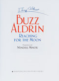 Autographs:Celebrities, Buzz Aldrin Signed Book: Reaching For The Moon....