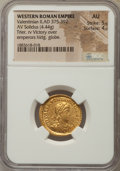 Ancients:Roman Imperial, Ancients: Valentinian II (AD 375-392). AV solidus (4.44 gm). NGC AU5/5 - 4/5....
