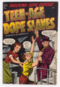 Golden Age (1938-1955):Crime, Teen-Age Dope Slaves #1 (Harvey, 1952) Condition: VG/FN....