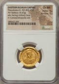 Ancients:Roman Imperial, Ancients: Theodosius II (AD 402-450). AV solidus (4.47 gm). NGCChoice MS 5/5 - 5/5....