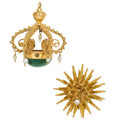 Estate Jewelry:Other, Seed Pearl, Stone, Diamond, Gold Jewelry Lot. . ...