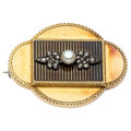 Estate Jewelry:Brooches - Pins, Antique Pearl, Diamond, Gold Brooch. ...