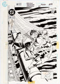 Original Comic Art:Covers, Rod Whigham and José Marzan, Jr. Flash #61 Cover OriginalArt (DC, 1992)....