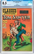 Golden Age (1938-1955):Classics Illustrated, Classics Illustrated #50 Original Edition (Gilberton, 1948) CGC VF+ 8.5 Off-white pages....