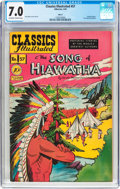 Golden Age (1938-1955):Classics Illustrated, Classics Illustrated #57 The song of Hiawatha - Original Edition(Gilberton, 1949) CGC FN/VF 7.0 Off-white to white pages....