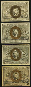 Fractional Currency:Second Issue, Second Issue Fractionals Very Fine or Better.. Fr. 1232 5¢;. Fr. 1246 10¢;. Fr. 1283 25¢. Fr. 1317 50¢. ... (Total: 4 notes)