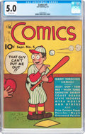 Platinum Age (1897-1937):Miscellaneous, The Comics #5 (Dell, 1937) CGC VG/FN 5.0 Off-white pages....