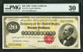 Large Size:Gold Certificates, Fr. 1178 $20 1882 Gold Certificate PMG Very Fine 30.. ...