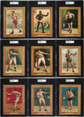 Boxing Cards:General, 1910-11 T9 Turkey Red Boxers SGC Graded Partial Set (9). ...