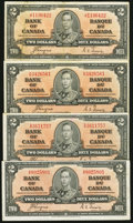 Canadian Currency: , BC-22c $2 1937. ... (Total: 4 items)