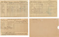 Explorers:Space Exploration, Buzz Aldrin's Report Cards (Three) from the Seventh, Eighth, andTwelfth Grades in Montclair, New Jersey, Public Schools, Orig...(Total: 3 Items)