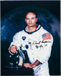 Autographs:Celebrities, Michael Collins Signed White Spacesuit Color Photo with NovaspaceCOA. ...