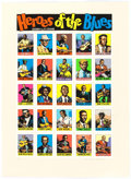 Memorabilia:Poster, Robert Crumb Heroes of the Blues Limited Serigraph #87 of150 (Wildwood Serigraphs, 2010)....