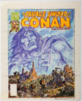 Original Comic Art:Miscellaneous, Earl Norem Savage Sword of Conan #36 Cover PreliminaryArtwork Original Art (Marvel, 1978)....