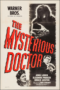 "The Mysterious Doctor (Warner Brothers, 1943). One Sheet (27"" X 41""). Crime"